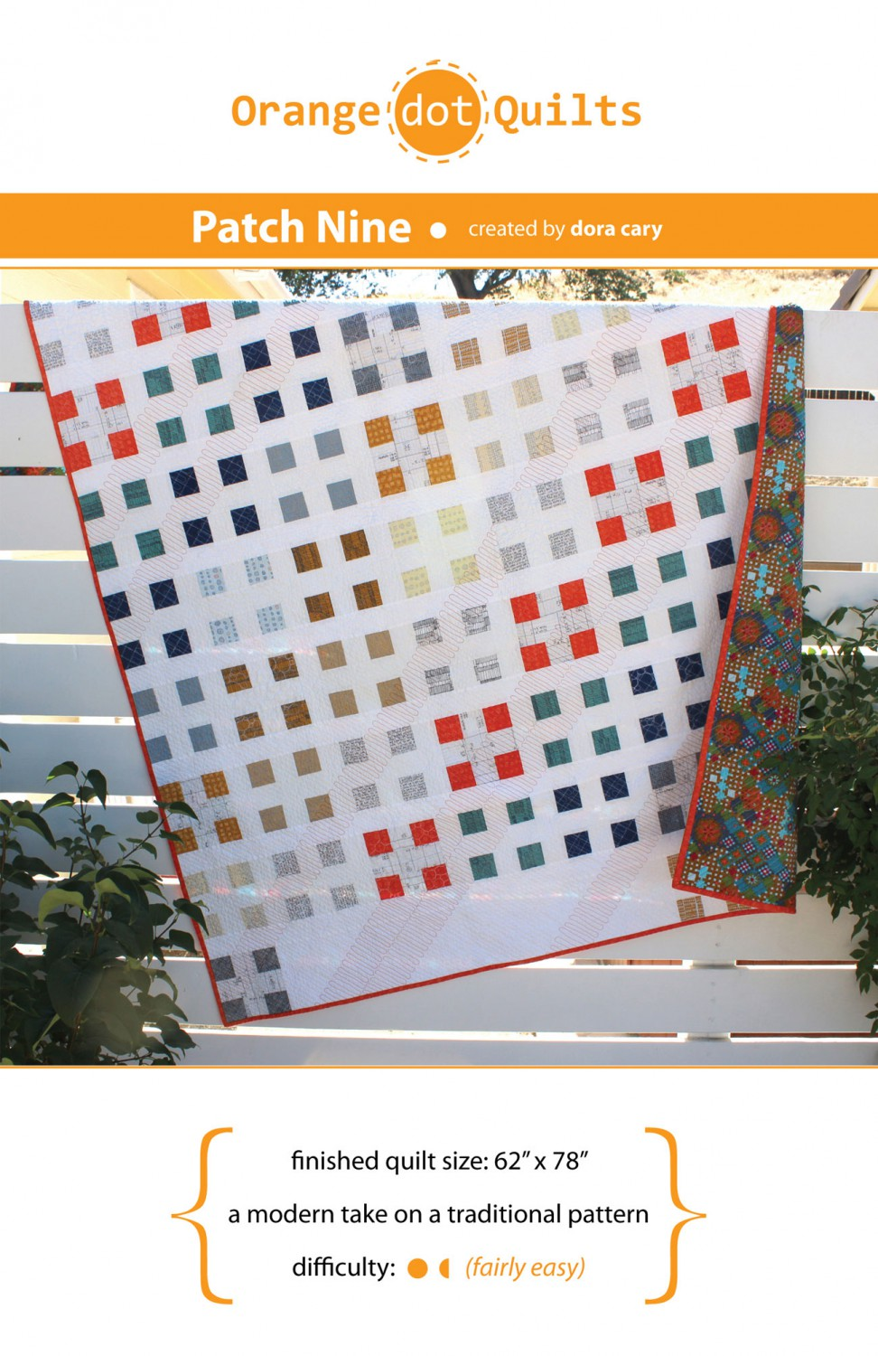 Patch Nine Quilt Pattern from Orange Dot Quilts