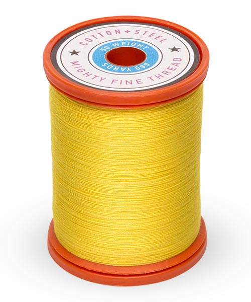 Cotton + Steel 50wt Thread by Sulky - Sun Yellow