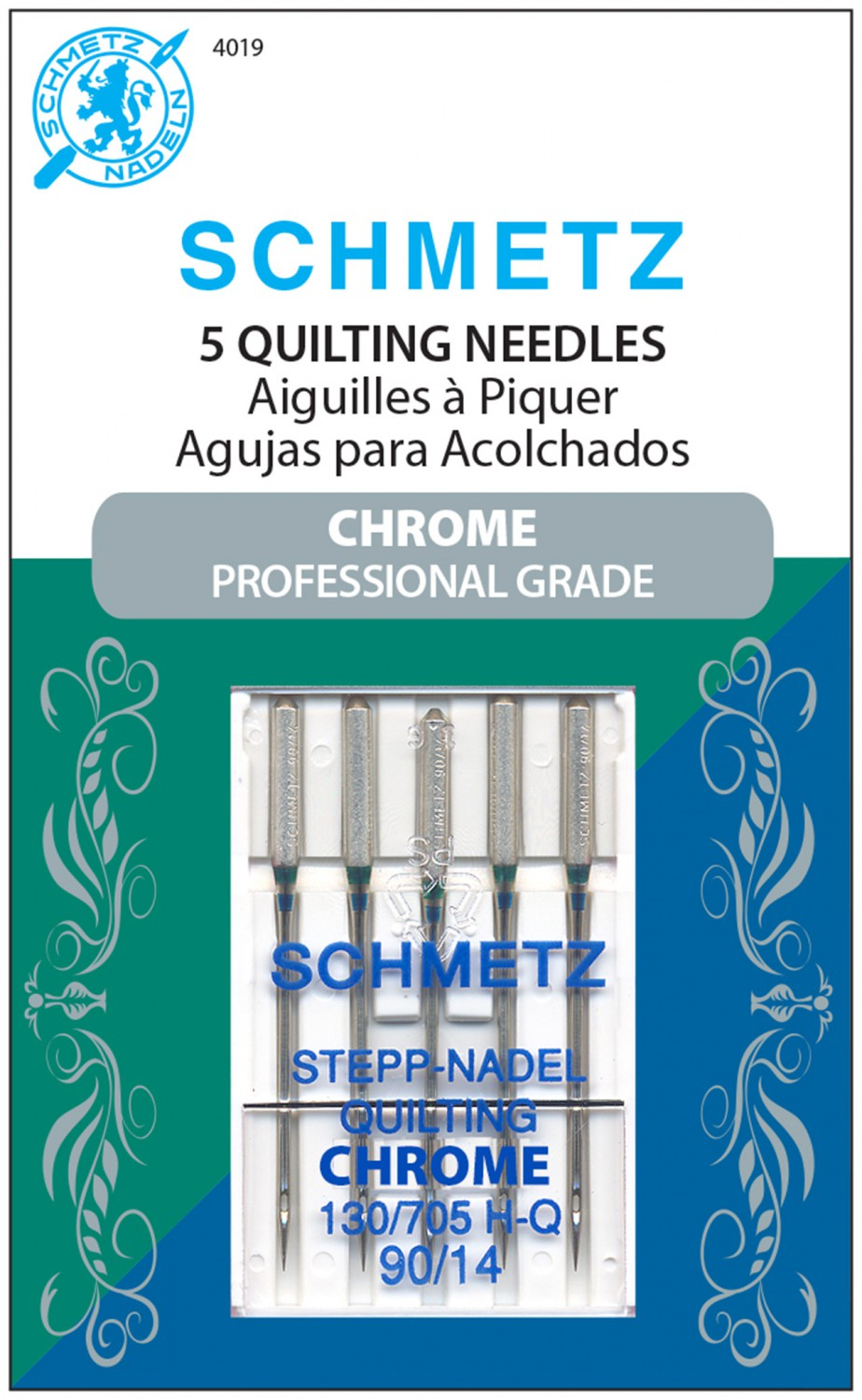Schmetz Chrome Quilting Needles - Size 90/14