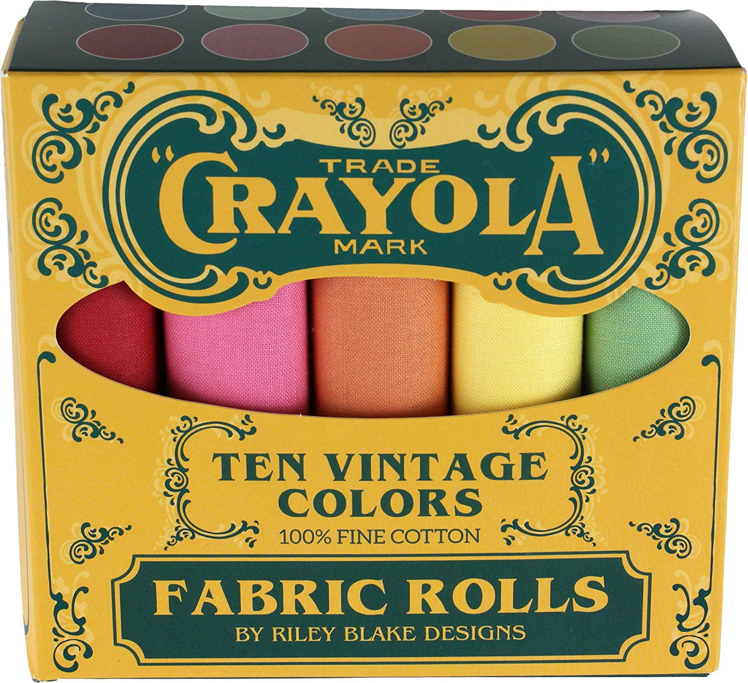 Confetti Cottons Vintage Crayola Fat Quarter Box - 10pcs