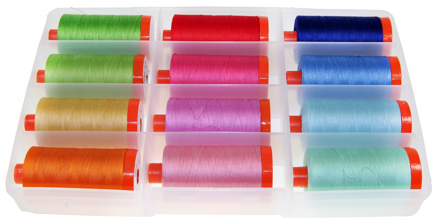 Bee in My Bonnet's Happy Colors Thread Collection by Aurifil Box of 12