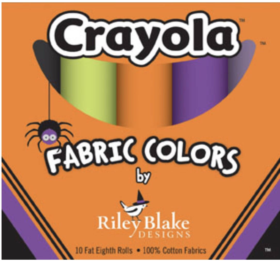 Crayola Fat Eighths Box - Halloween Colors - Riley Blake