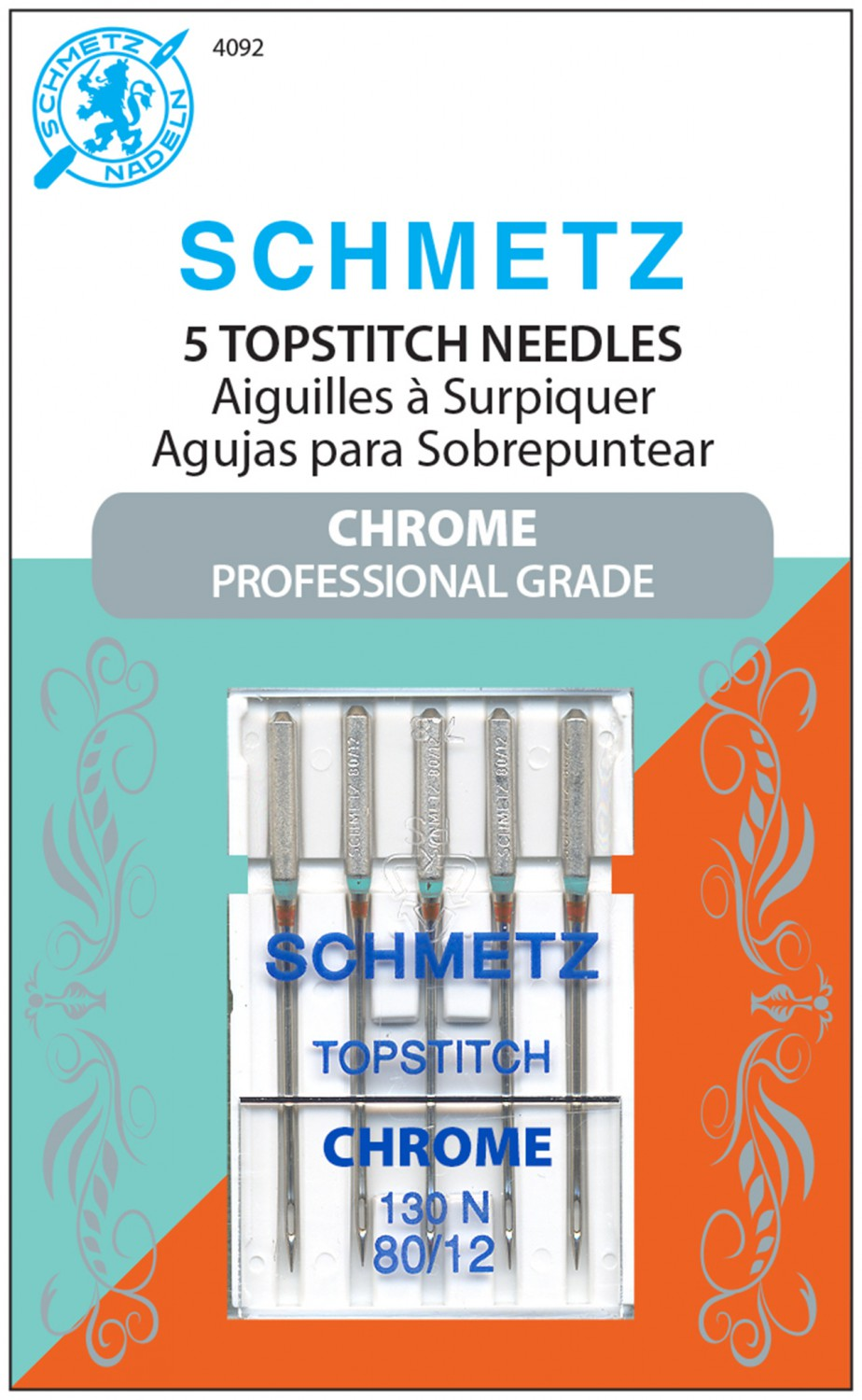 Schmetz Chrome Topstitch Needles - Size 80/12