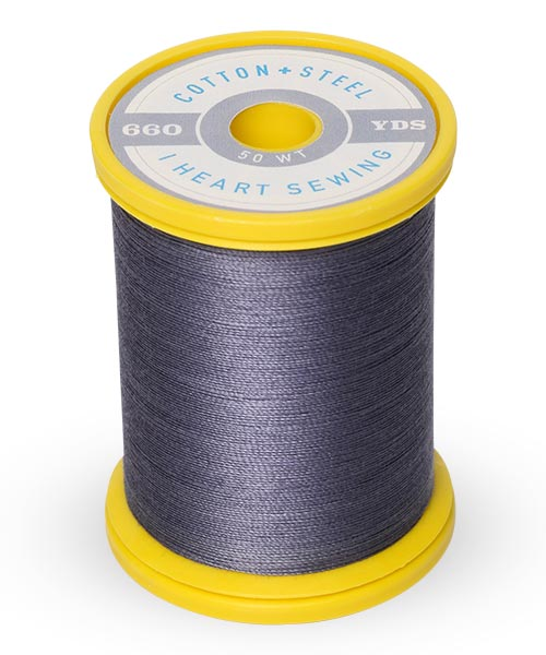 Cotton + Steel 50wt Thread by Sulky - Smokey Grey