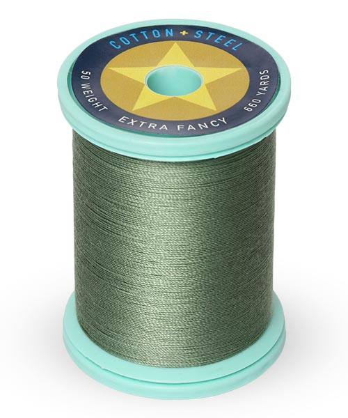 Cotton + Steel 50wt Thread by Sulky - French Green