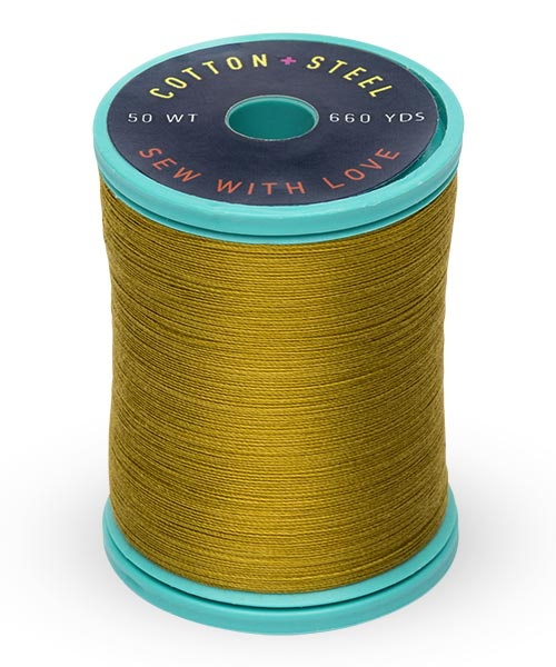 Cotton + Steel 50wt Thread by Sulky - Dark Gold Green