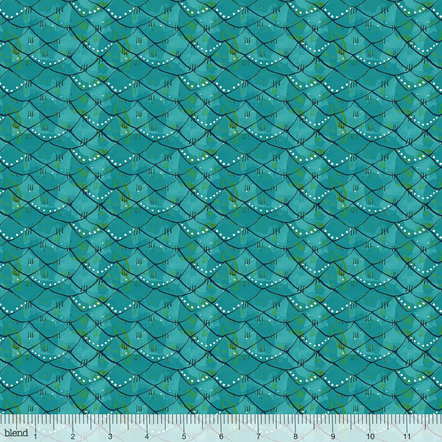 Mermaid Days - Scalloped Turquoise
