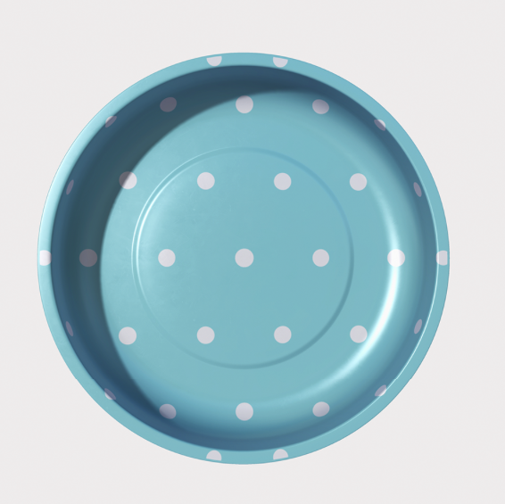 Sew Together Magnetic Pin Bowl - Aqua Polka Dots