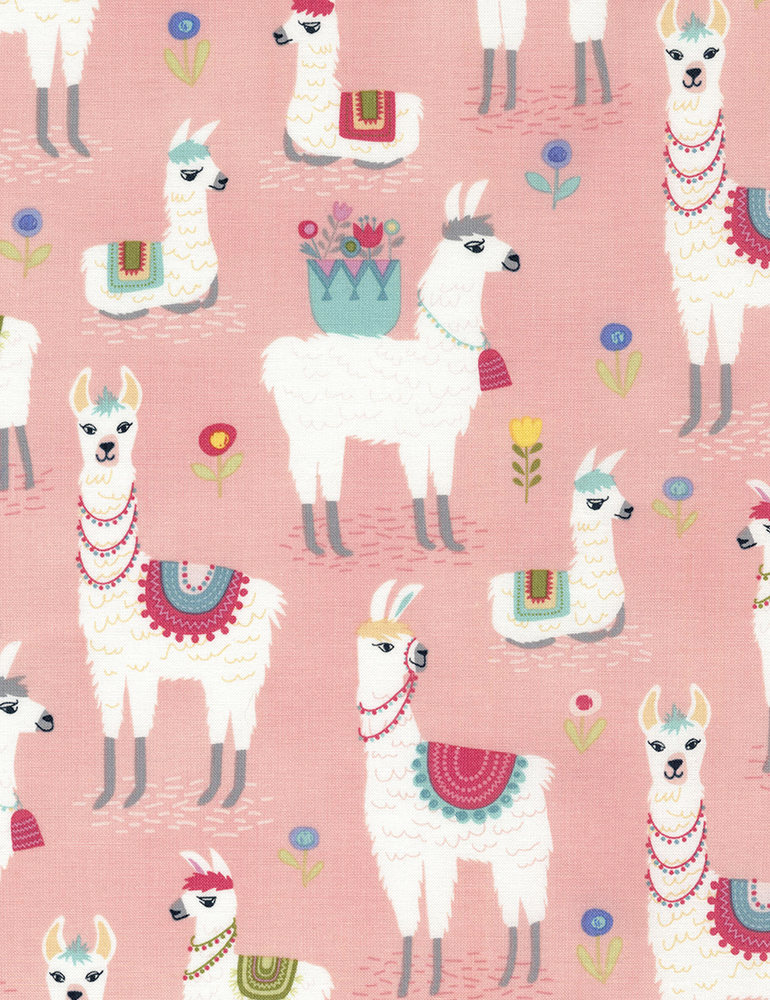 Alpaca Adventures - Alpaca Pink - Timeless Treasures