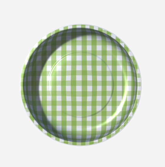 Sew Together Magnetic Pin Bowl - Green Gingham