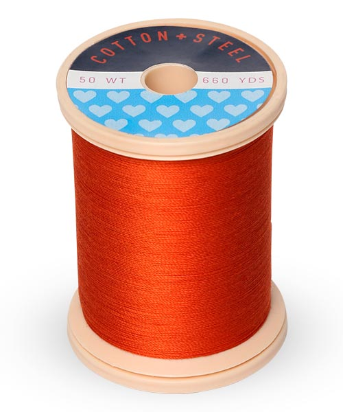 Cotton + Steel 50wt Thread by Sulky - Orange Flame