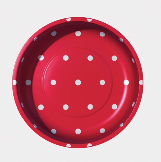Sew Together Magnetic Pin Bowl - Red Polka Dots - Riley Blake STMB-4985