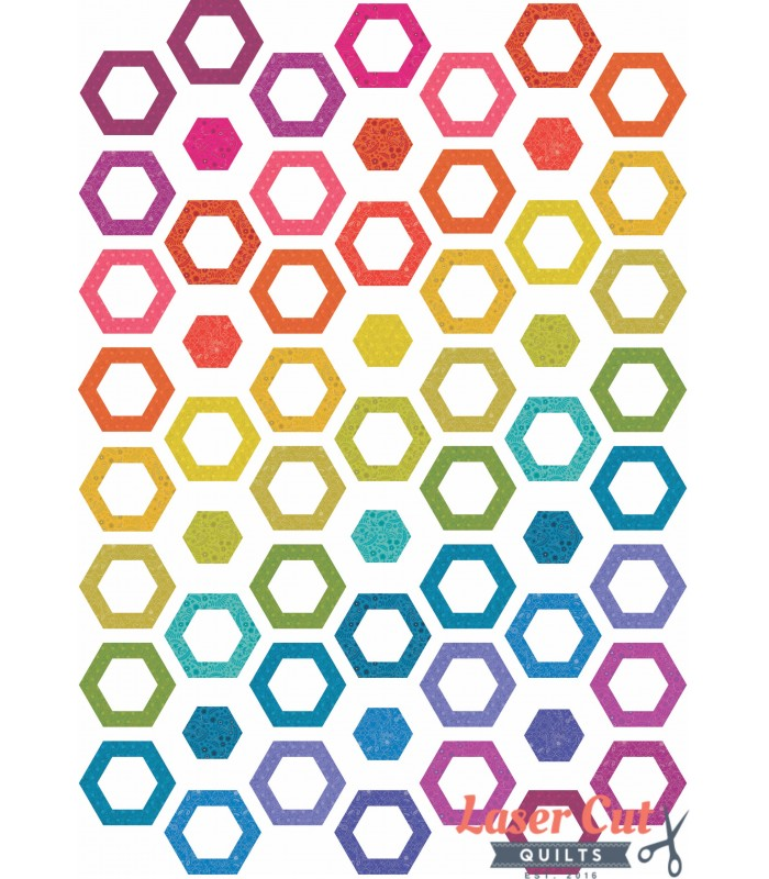 Hollow Hexies Quilt Kit - 40