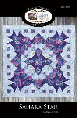 Sahara Star Quilt Pattern by Raija Salomaa - 61-inch Square
