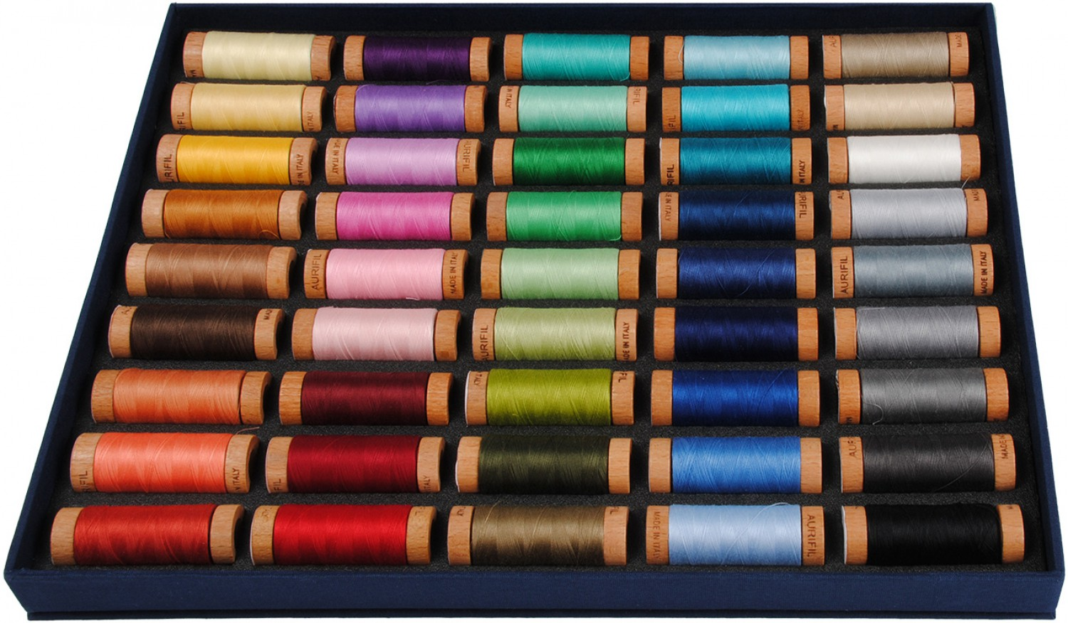 Aurifil Best Selection 80wt Cotton Thread Set - 45 Small Spools