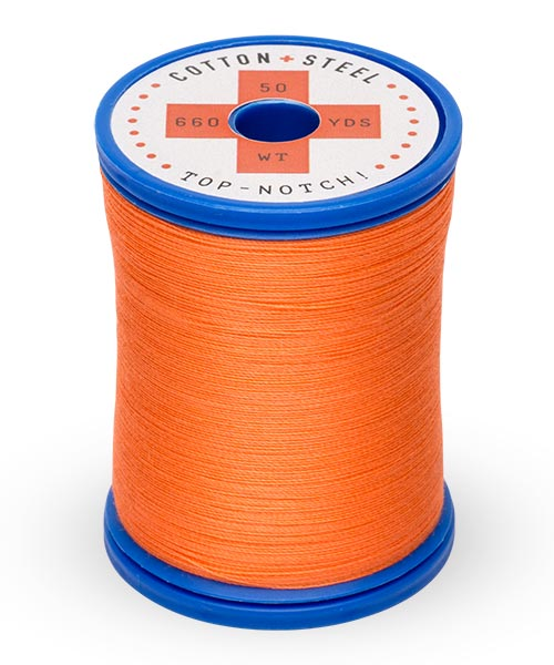 Cotton + Steel 50wt Thread by Sulky - Tangerine