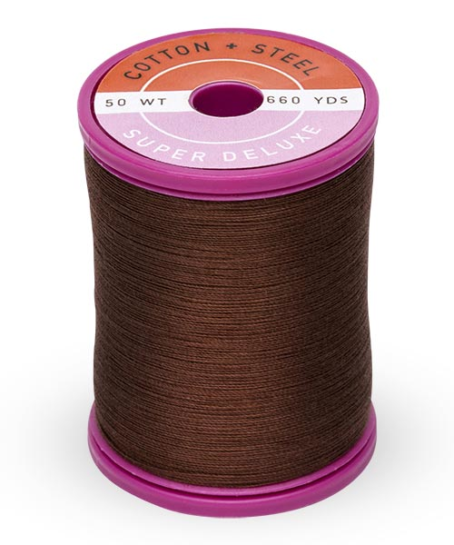Cotton + Steel 50wt Thread by Sulky - Dark Brown