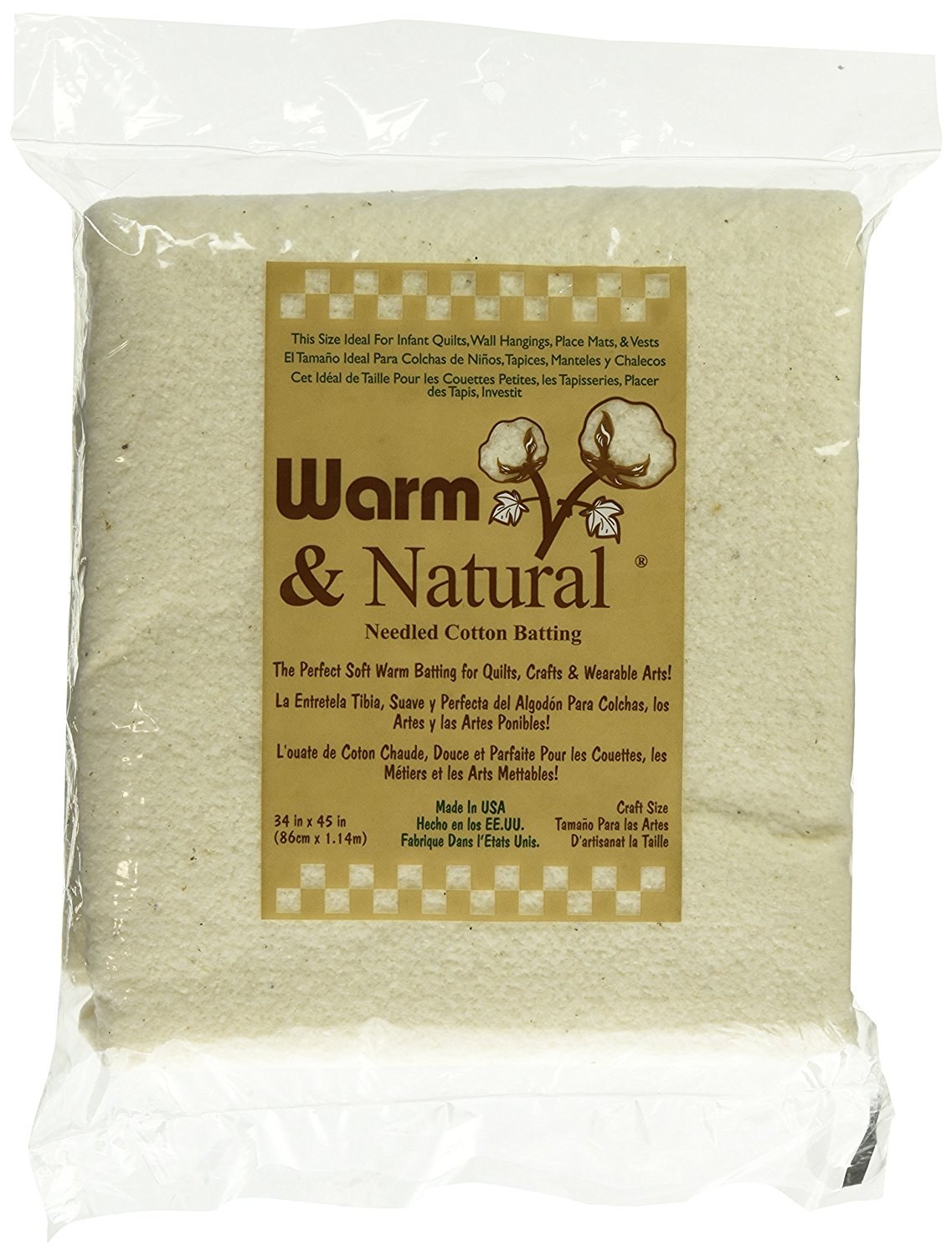 Warm & Natural Batting - Craft Size - 34