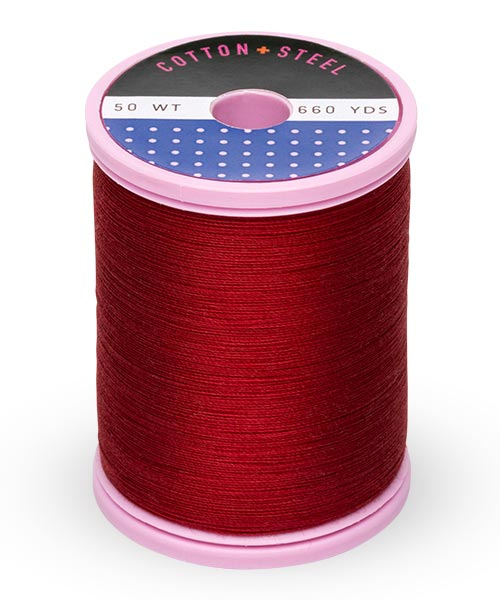 Cotton + Steel 50wt Thread by Sulky - Cabernet Red