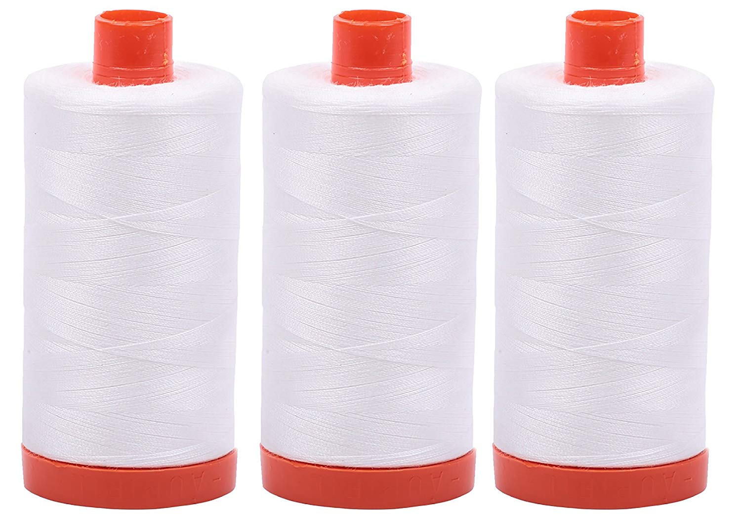 Aurifil Mako 50 wt Cotton Thread - Natural White (2021) - Bundle of 3