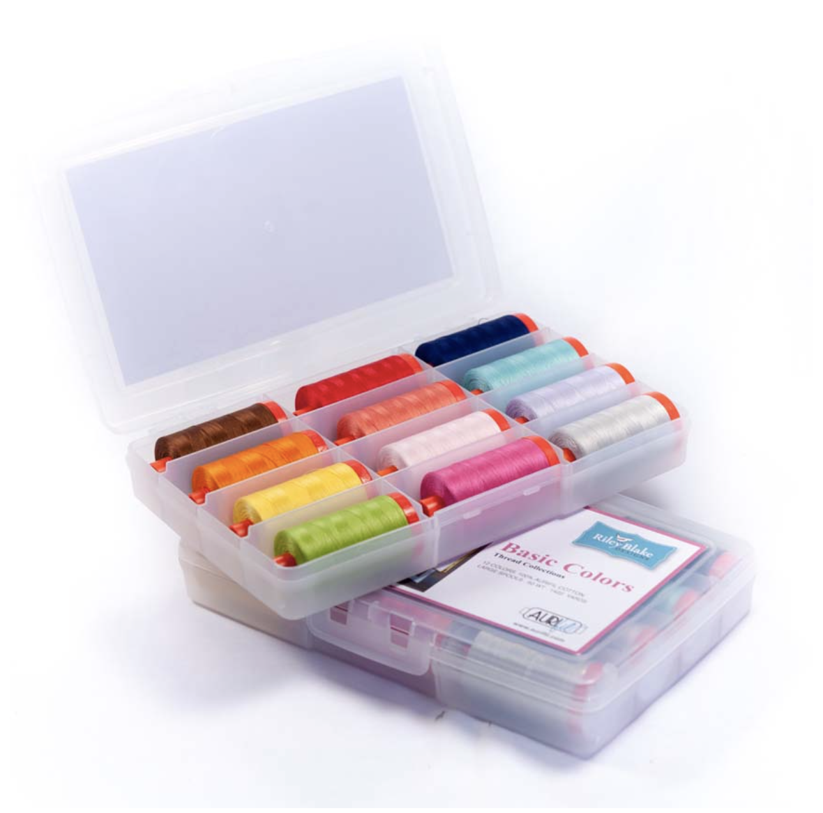 Riley Blake Designs Basic Thread Collection by Aurifil - Box of 12