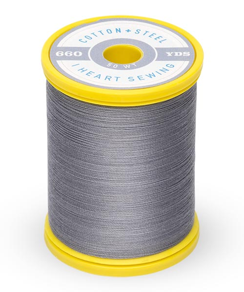 Cotton + Steel 50wt Thread by Sulky - Sterling