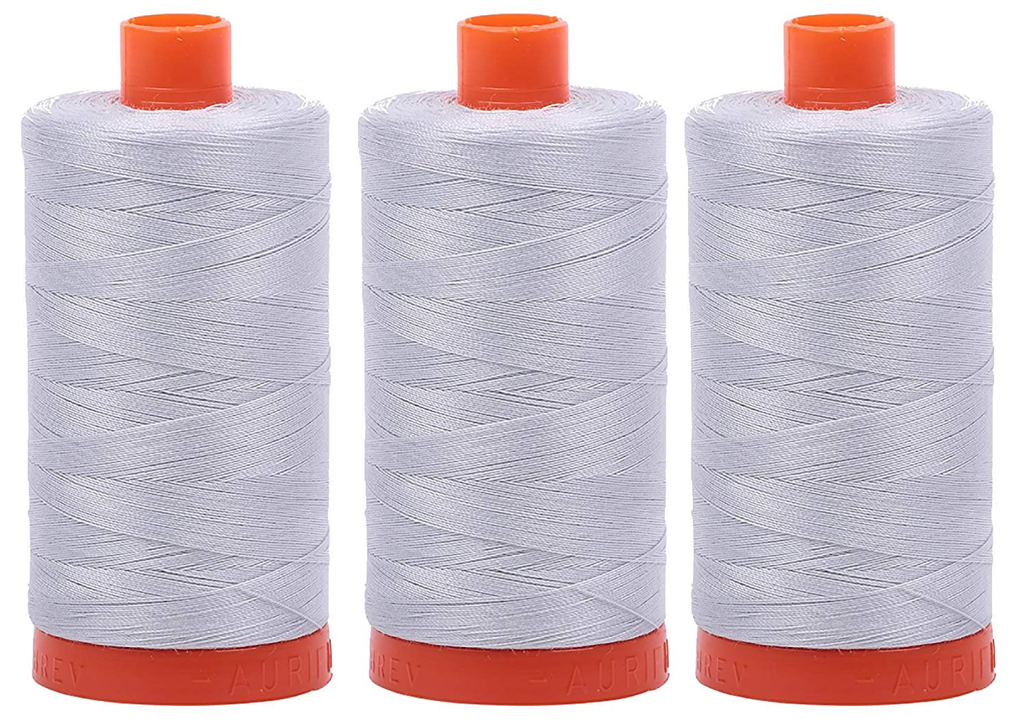 Aurifil Mako 50 wt Cotton Thread - Dove (2600) - Bundle of 3