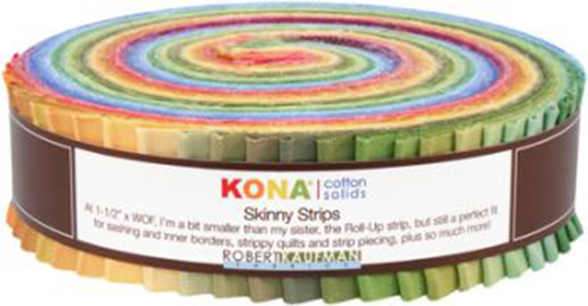 Kona Cotton Solids 1.5-inch Skinny Strips - Dusty Palette