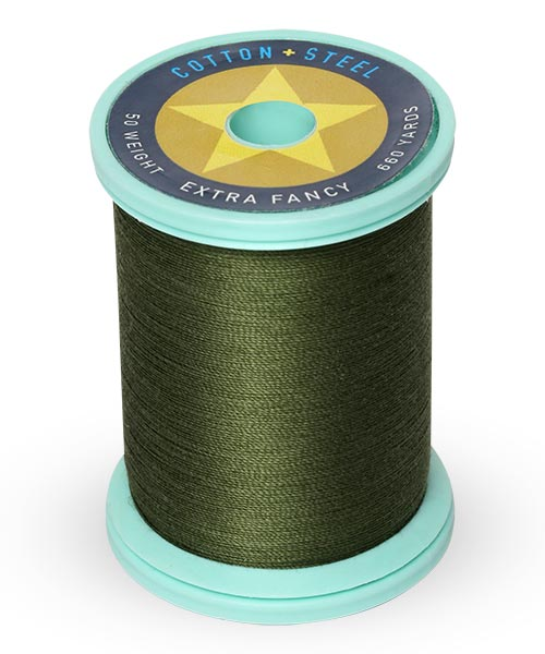 Cotton + Steel 50wt Thread by Sulky - Evergreen