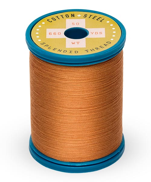 Cotton + Steel 50wt Thread by Sulky - Medium Tawny Tan