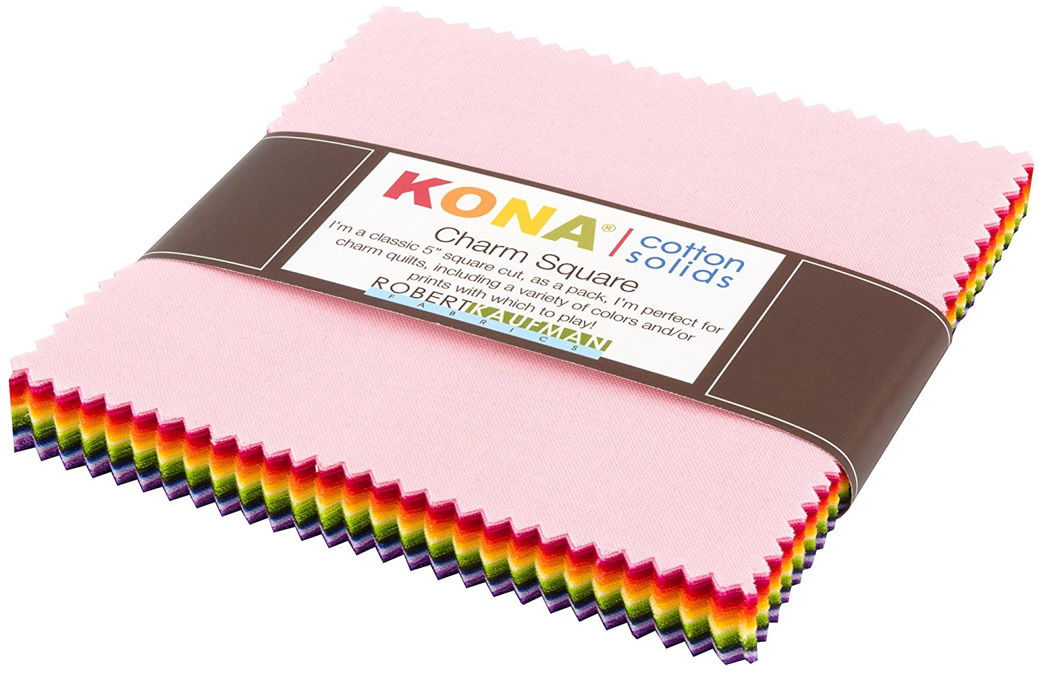 Kona Cotton Solids Charm Pack - 5 inch Squares - Annie Smith Palette