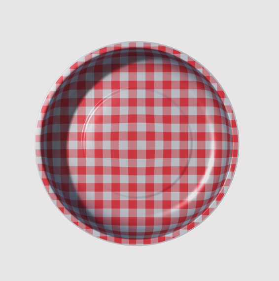Sew Together Magnetic Pin Bowl - Red Gingham
