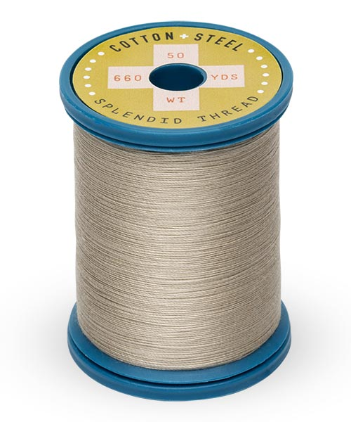 Cotton + Steel 50wt Thread by Sulky - Greige