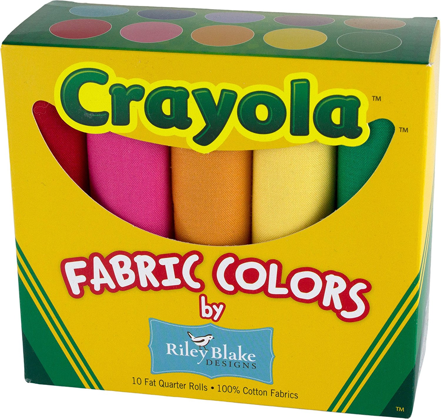 Crayola Fabric Colors Fat Quarters Box