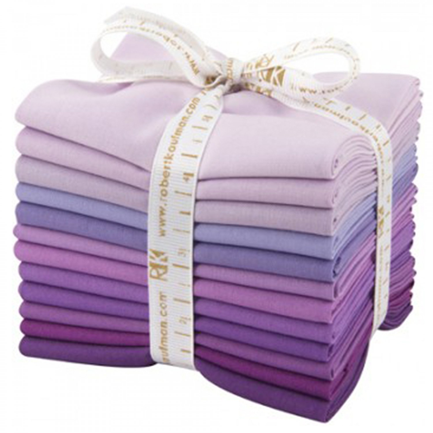 Kona Cotton Solids Fat Quarter Bundle - Lavender Fields - 12pcs