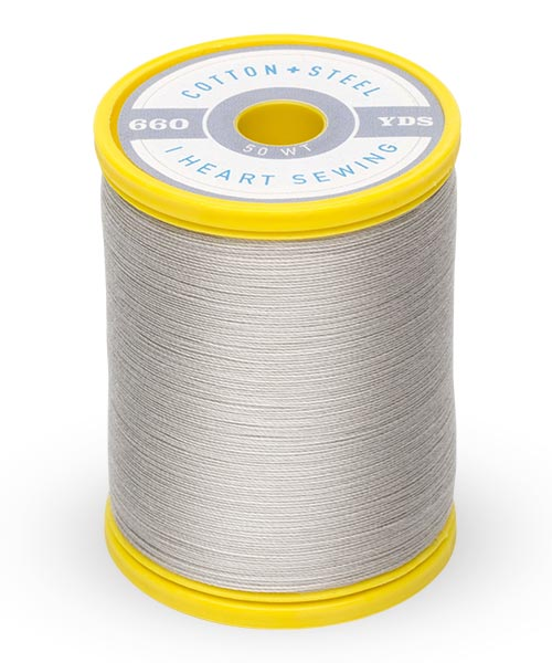 Cotton + Steel 50wt Thread by Sulky - Nickel Grey