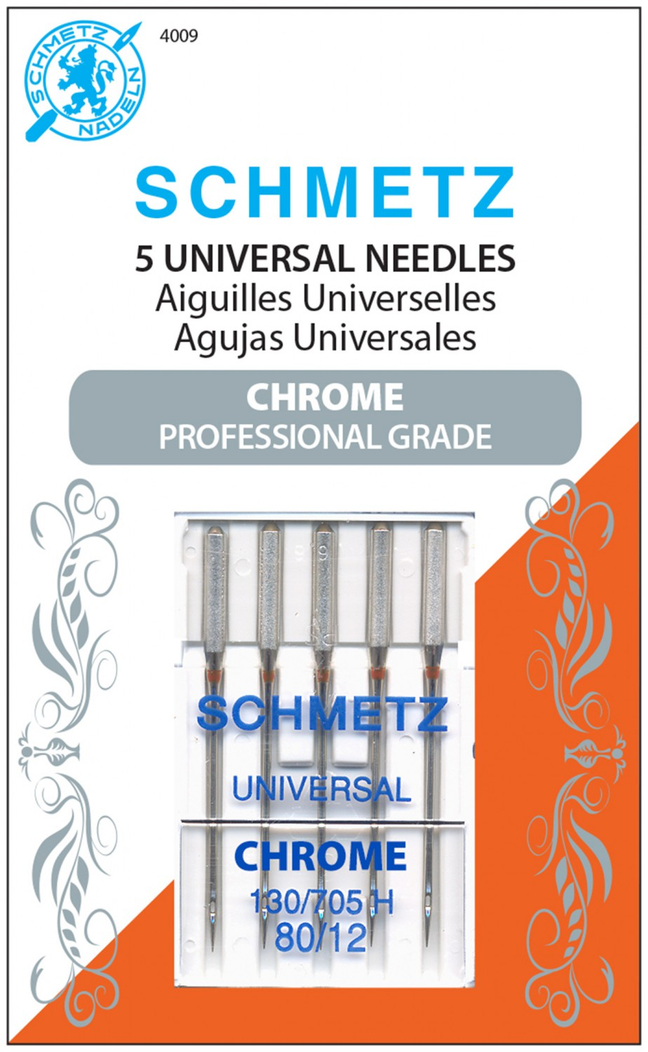 Schmetz Chrome Universal Needles - Size 80/12