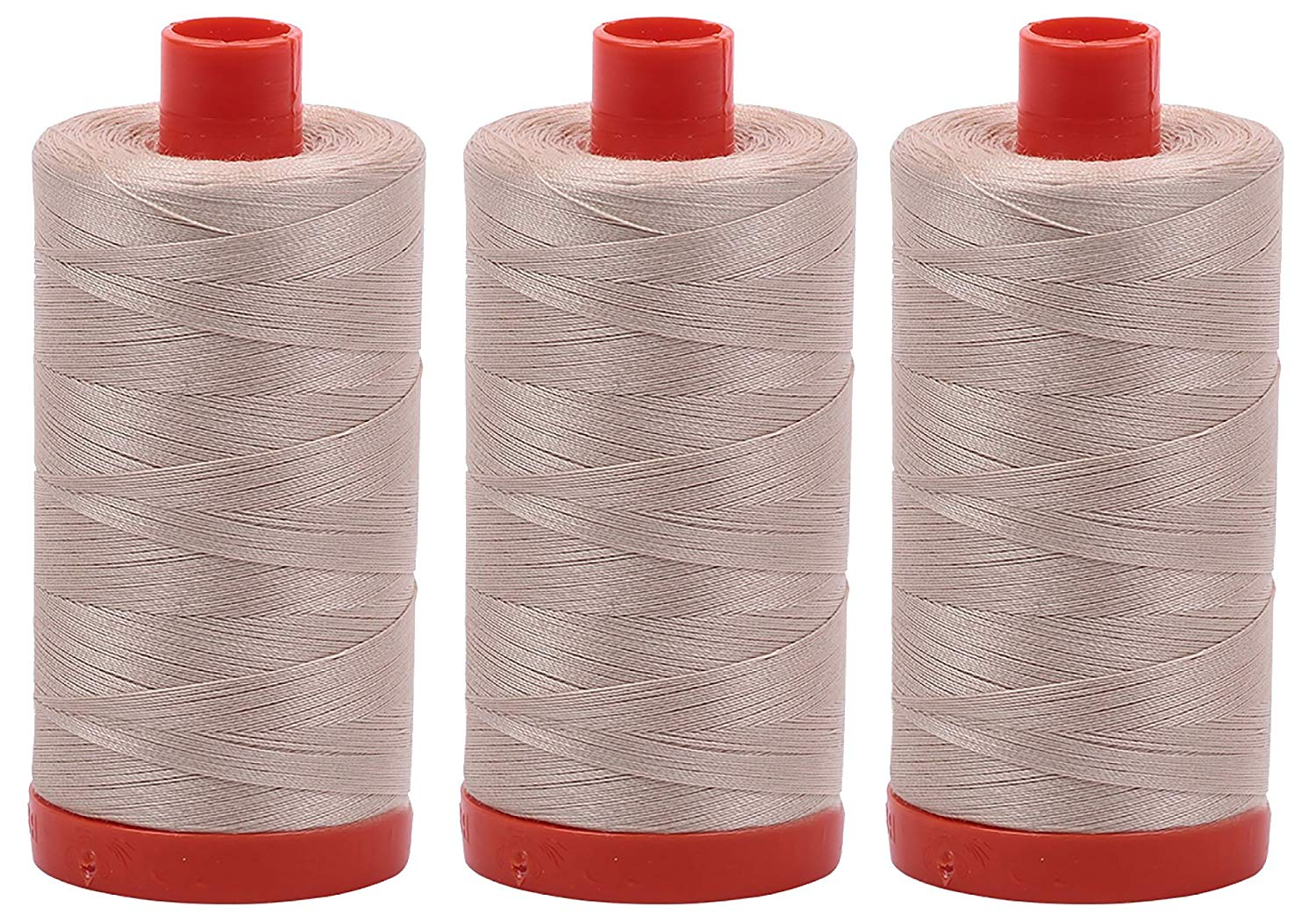 Aurifil Mako 50 wt Cotton Thread - Ermine (2312) - Bundle of 3