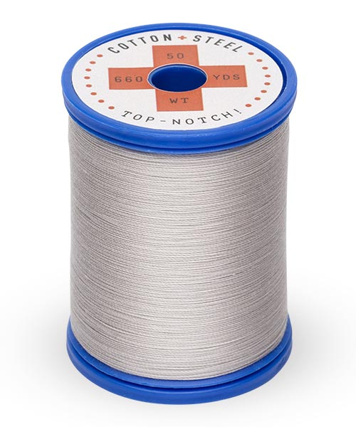 Cotton + Steel 50wt Thread by Sulky - Silver Gray