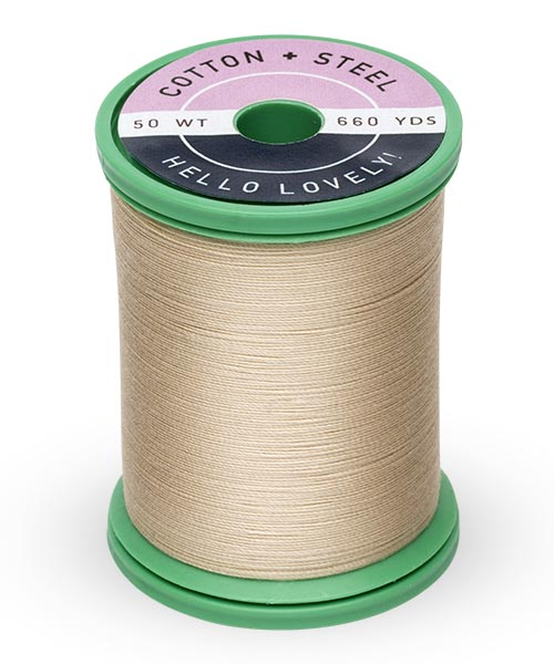Cotton + Steel 50wt Thread by Sulky - Deep Ecru