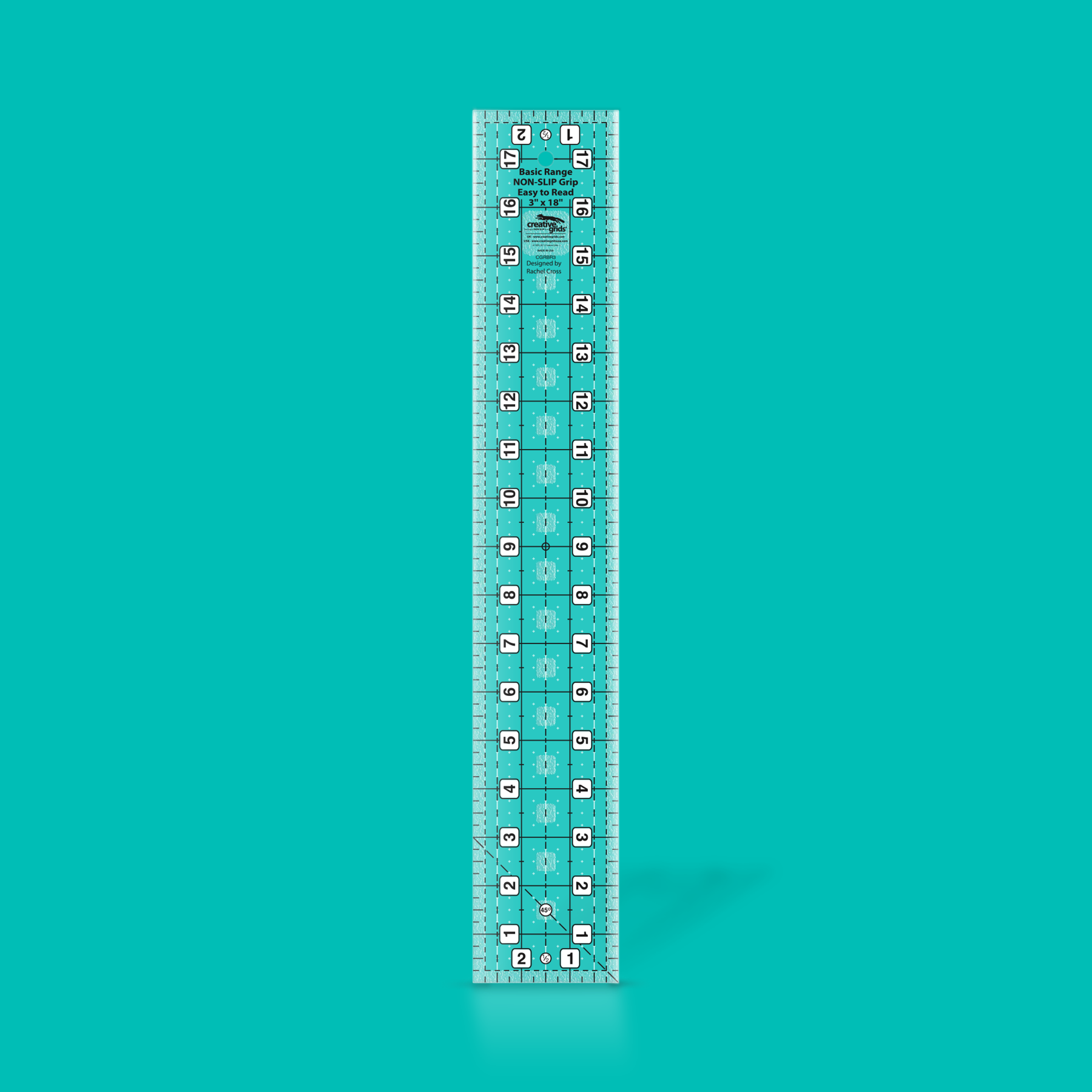 Creative Grids Basic Range Quilt Ruler - 3