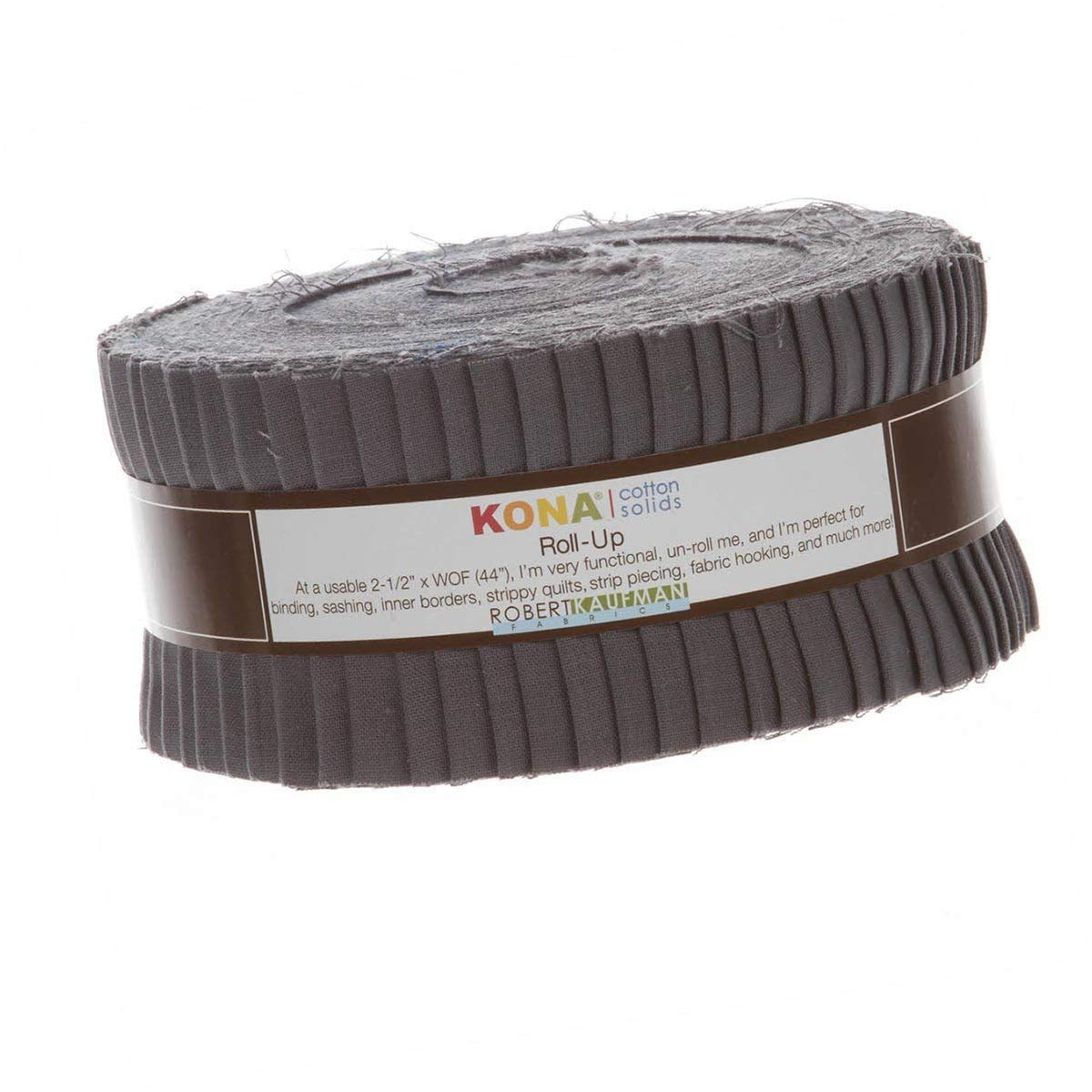Kona Cotton Solid 2.5-inch Strips Roll-Up - Coal