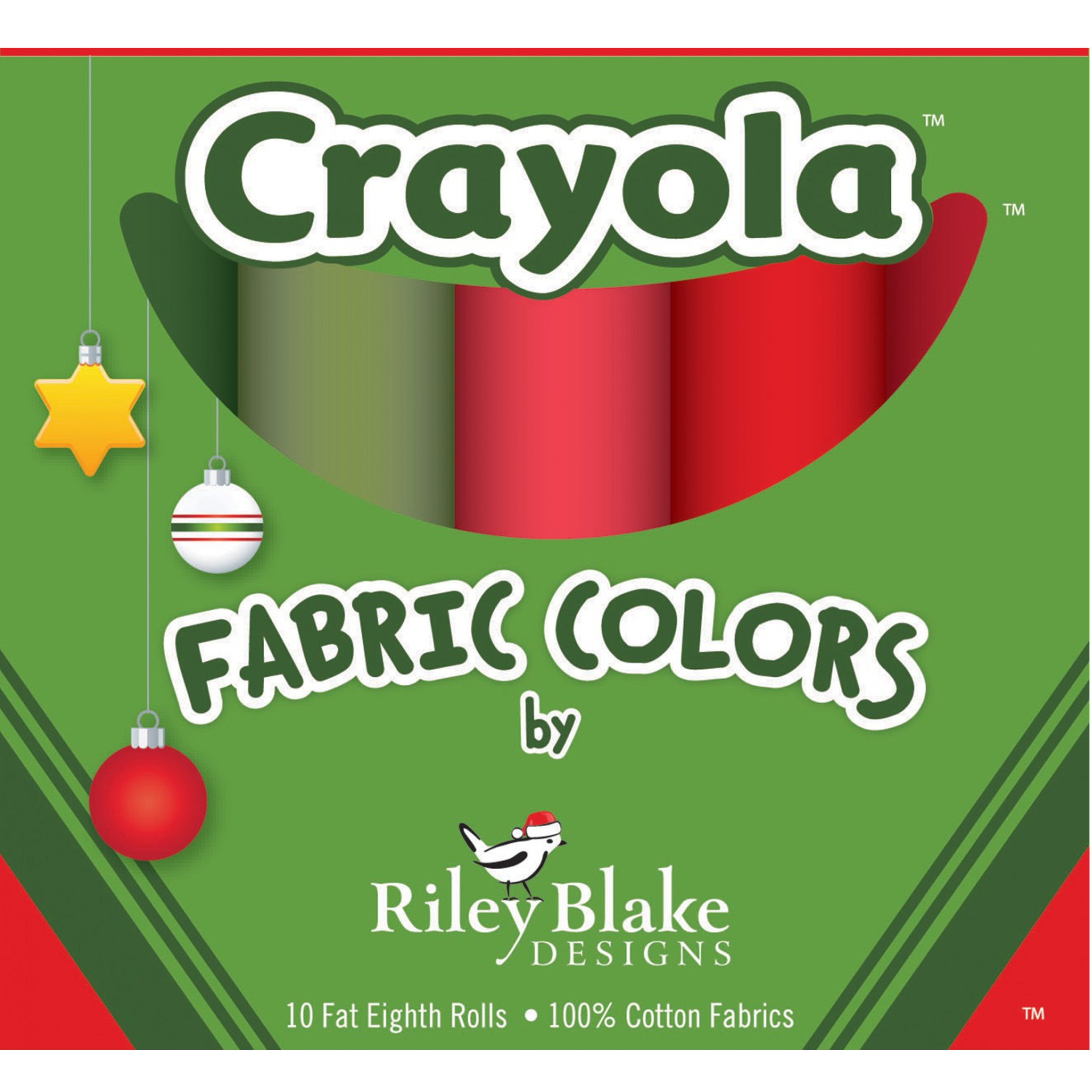 Crayola Fat Eighths Box - Christmas Colors - Riley Blake