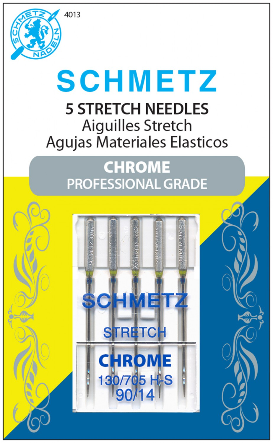 Schmetz Chrome Stretch Needles - Size 90/14