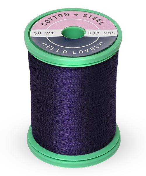 Cotton + Steel 50wt Thread by Sulky - Medium Navy