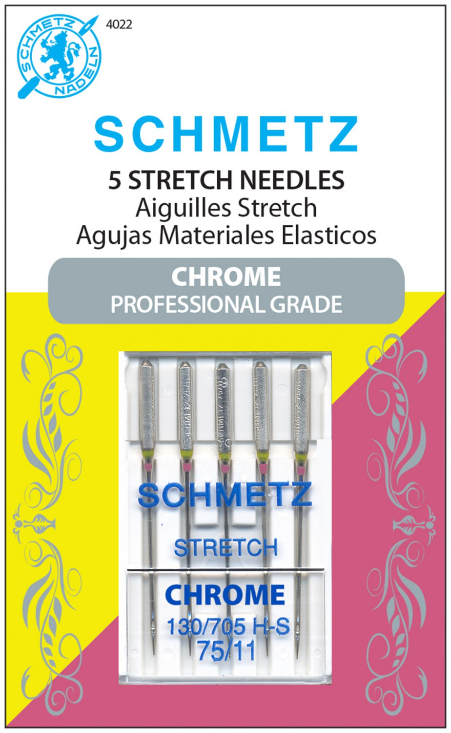 Schmetz Chrome Stretch Needles - Size 75/11