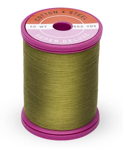 Cotton + Steel 50wt Thread by Sulky - Light Army Green