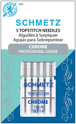 Schmetz Chrome Topstitch Needles - Size 90/14