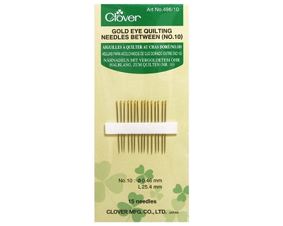 Clover Gold Eye Hand Quilting Needles - No. 10