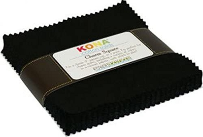 Kona Cotton 5-inch squares - Black